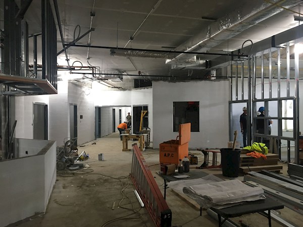 Construction Update 5: Installation of steel framing